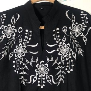 No Brand - Size XXL embroidery & feels like linen